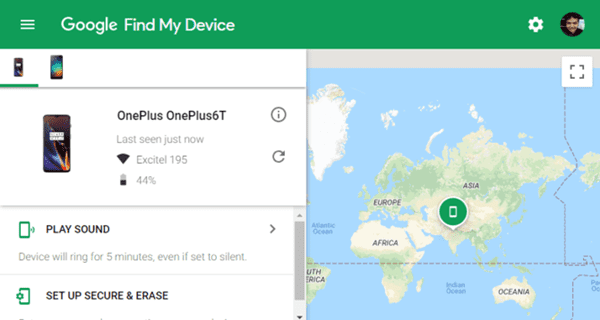 google find my mobile