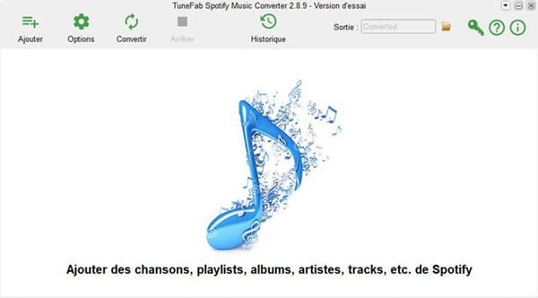 interface de TuneFab Spotify Music Converter