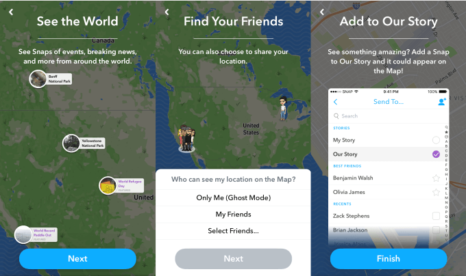 snap map onboarding